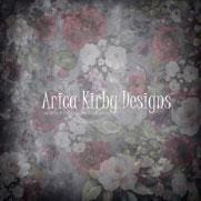 Kate Fine Art Floral Black Retro Backdrop designed by Arica Kirby