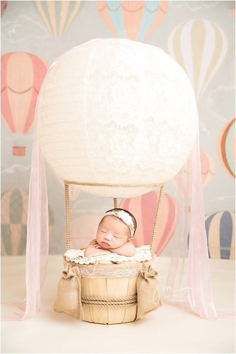 Katebackdrop:Kate Printed Pattern Hot Air Balloon Children Backdrop