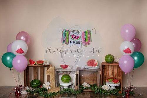 Kate Birthday Pink Watermelon Backdrop Designed by Jenna Onyia