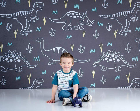 Kate Dinosaur Park Children Backdrop for Photography Designed by Amanda Moffatt