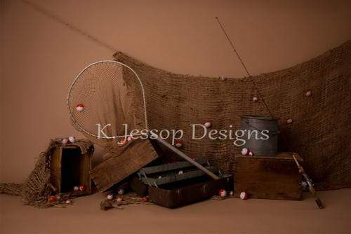 Katebackdrop£ºKate Let's Go Fishing Children Backdrop Designed by Keerstan Jessop