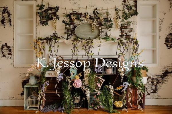Kate Spring Floral Backdrop for Photography Designed by Keerstan Jessop