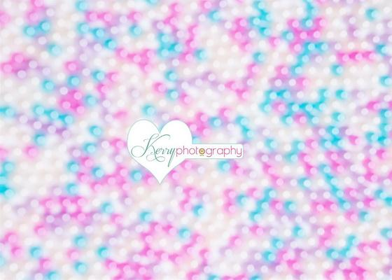 Kate Pink Blue Boka Effect Backdrop Designed by Kerry Anderson