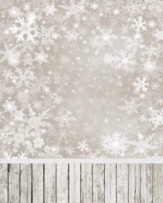 Load image into Gallery viewer, Kate Sliver star snowflake Background Children Holiday Christmas Photography Backdrop - Katebackdrop
