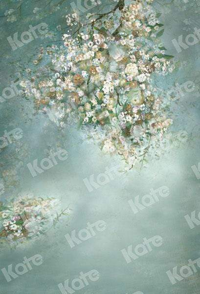 Load image into Gallery viewer, Kate Painting Like Green Spring Flowers backdrop printed Background