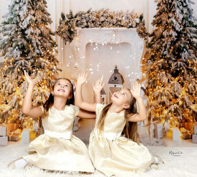 Kate Christmas White Fireplace Backdrop for Photography