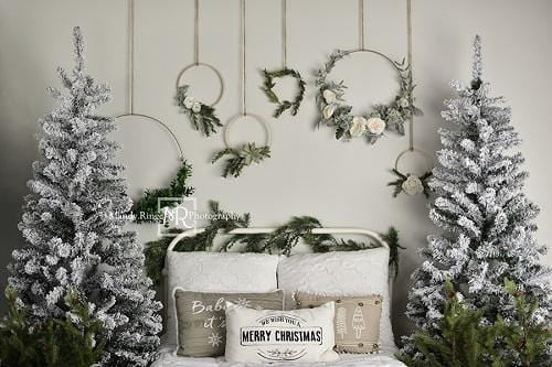 Kate Christmas/Winter Bed Backdrop Designed by Mandy Ringe Photography