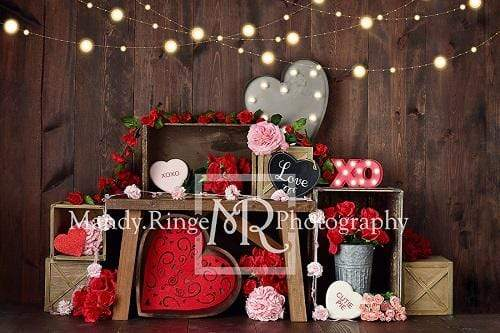 Load image into Gallery viewer, Kate Valentine's Crates Backdrop Designed By Mandy Ringe Photography