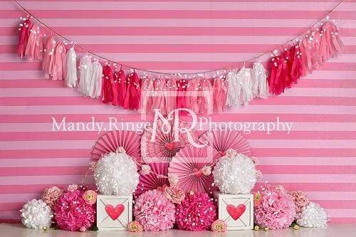 Kate Valentine's Day with Hearts and Stripes Backdrop Designed By Mandy Ringe Photography