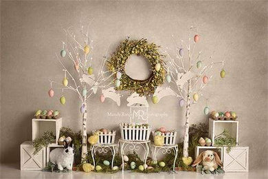 Kate Easter Egg Trees and Bunnies Backdrop Designed By Mandy Ringe Photography