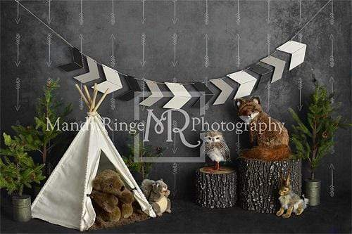 Kate Wild Birthday with Animals Children Backdrop Designed By Mandy Ringe Photography