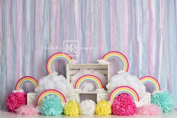 Kate Rainbow Birthday Party Backdrop Designed by Mandy Ringe Photography