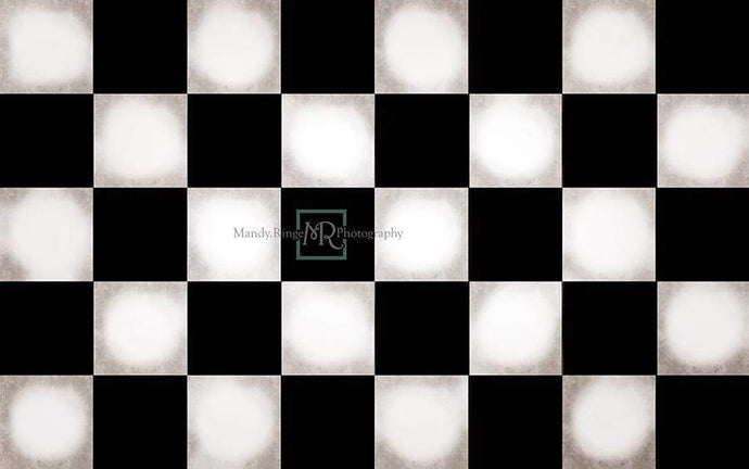 Katebackdrop¡êoKate Black&White Checker Rubber Floor Mat Designed By Mandy Ringe Photography