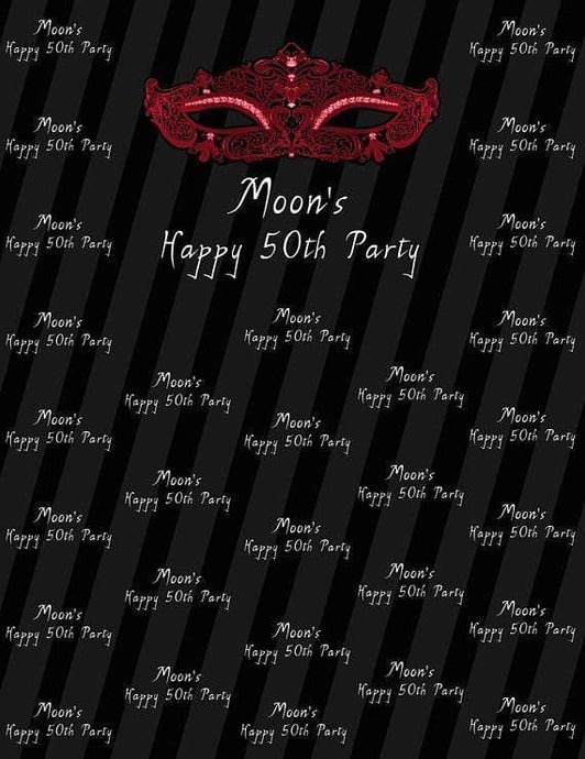 Katebackdrop:Kate Masquerade Ball Mask 50 Birthday Personalized Photography Backdrops