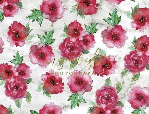 Kate Fine Art Pink Flower Backdrop Designed by Megan Leigh Photography