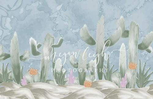 Katebackdrop:Kate Cactus Spring Children Backdrop Designed by Megan Leigh Photography
