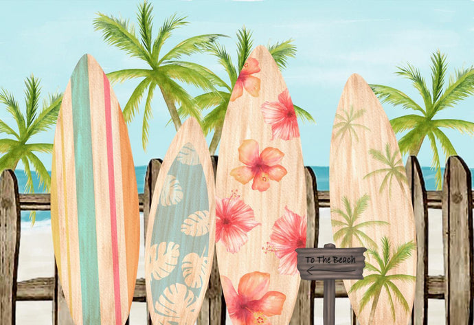 Kate Surfboards Summer Children Backdrop Designed by Megan Leigh Photography