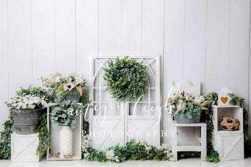 Kate Floral White Boho Backdrop Designed By Megan Leigh Photography