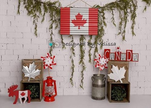 Kate Canada Day Flag Backdrop Designed by Melissa King