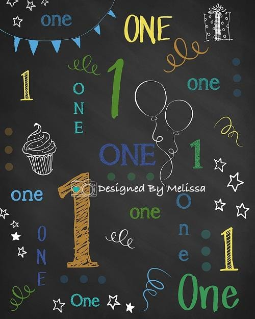 Kate Chalk Birthday Backdrop Designed by Melissa King
