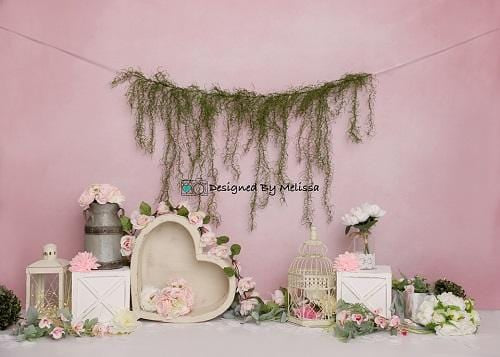 Kate Pink Flowers Backdrop for Photography Designed by Melissa King