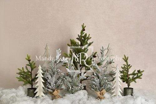 Load image into Gallery viewer, Katebackdrop£ºKate Pine Trees in Snow Christmas Backdrop for Photography Designed By Mandy Ringe Photography