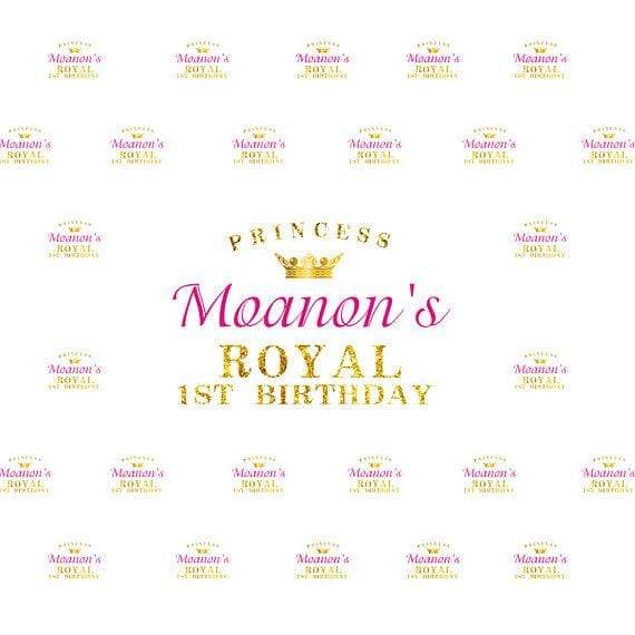 Katebackdrop£ºKate Princess Royal Birthday Banner Photography Backdrops Custom Step and Repeat