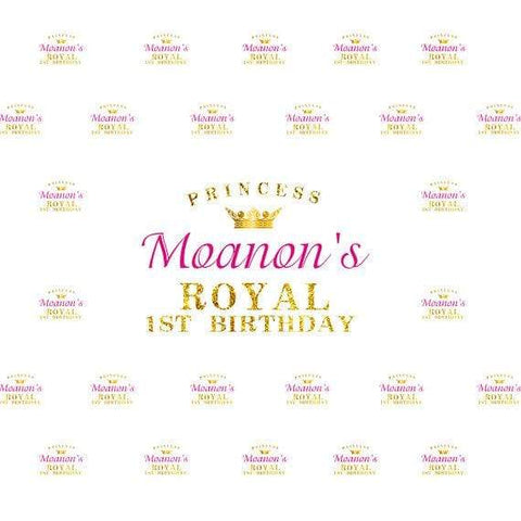 KatebackdropKate Princess Royal Birthday Banner Photography Backdrops Custom Step And Repeat