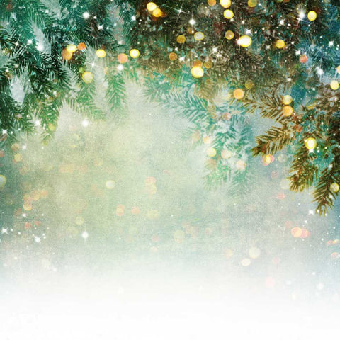 Kate Fantasy Christmas Pine tree branch winter Bokeh Backdrops for Photography