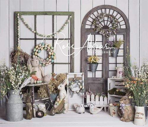 Katebackdrop:Kate Easter\Spring Floral Archway Backdrop Designed By Rose Abbas