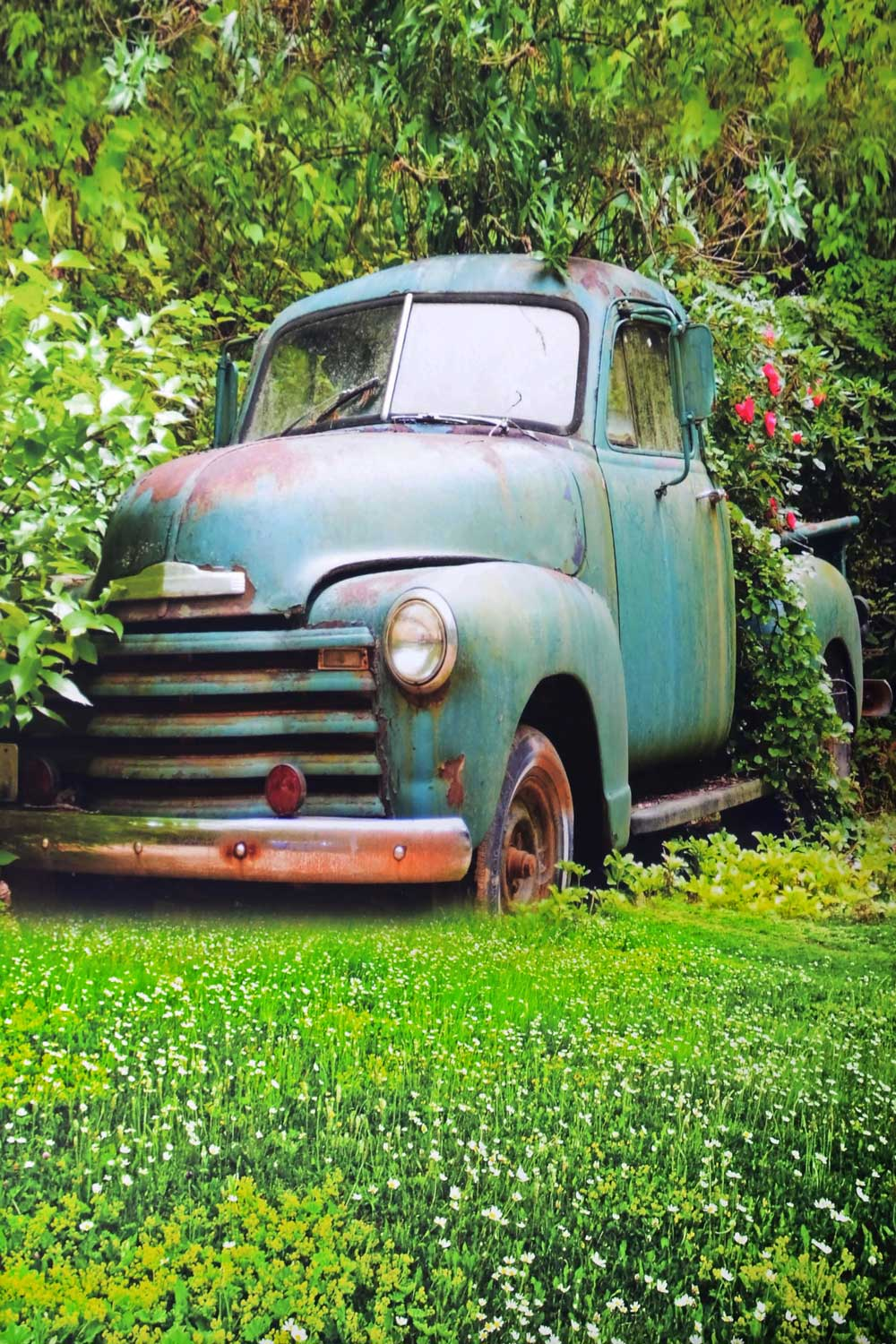 Load image into Gallery viewer, Kate Spring Retro Car Backdrop for Photography