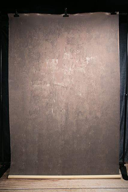Katebackdrop£ºKate Abstract Texture Dark Brown Color Hand Painted Canvas Backdrop