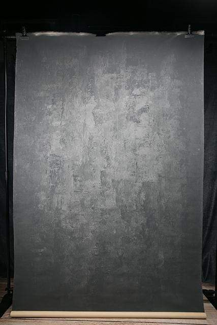 Katebackdrop:Kate Abstract Texture Dark Gray Color Hand Painted Canvas Backdrop