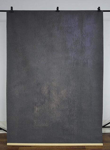 Kate Abstract Texture Dark Grey Litter Purple Mix Hand Painted Canvas Backdrop