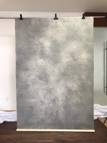Kate Hand Painted Abstract Texture Cold Grey Backdrops