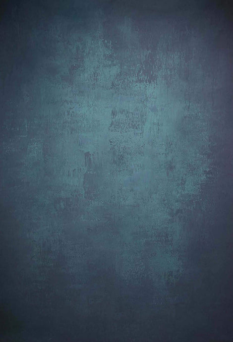 Katebackdrop£ºKate Abstract Texture Turquoise Dark Color Hand Painted Canvas Backdrop