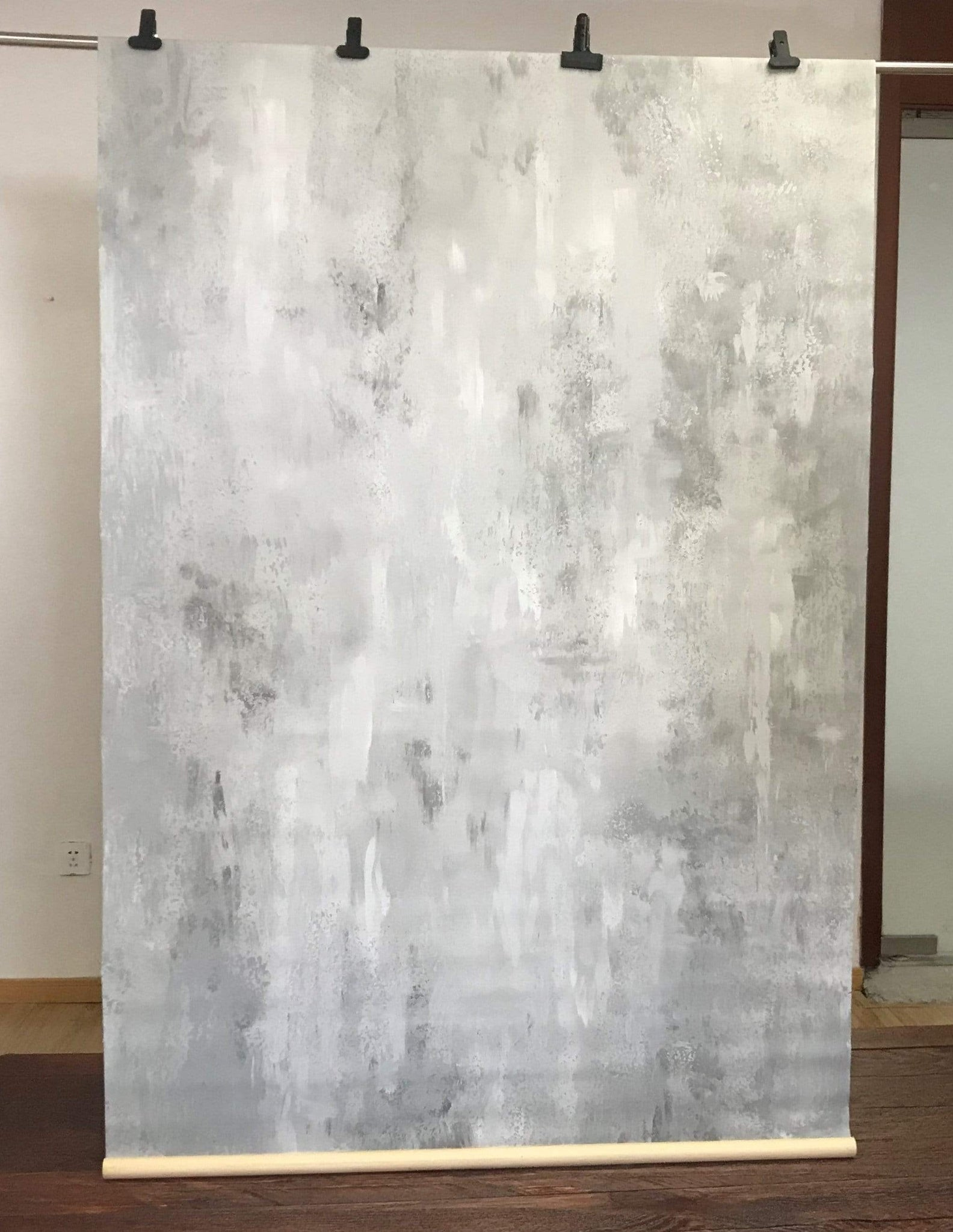 Load image into Gallery viewer, Katebackdrop£ºKate Hand Painted Abstract Texture Light White Little Gray Backdrops