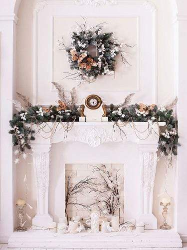 Katebackdrop£ºKate Christmas White Room with Decorations Backdrop Designed by Jerry_Sina