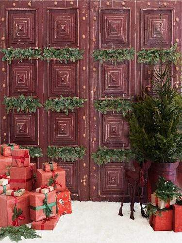 Katebackdrop£ºKate Christmas Gifts Red Doors Backdrop Designed by Jerry_Sina