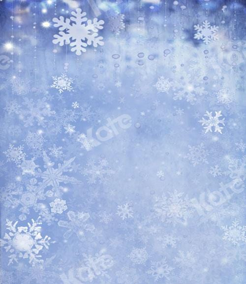 Kate Christmas/winter Frozen Snow Backdrop Designed By JS Photography
