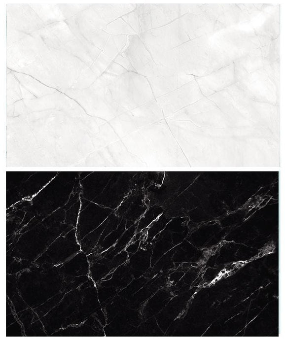 Kate 57x87cm White/Black Marble Double-Sided Paper Backdrop Waterproof for Food Photography