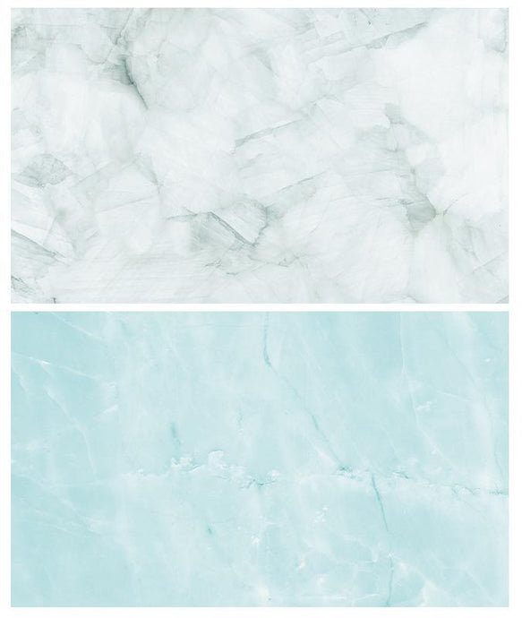 Kate 57x87cm Blue/gray Marble Double-Sided Paper Backdrop Waterproof for Food Photography
