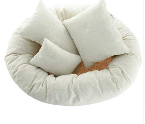 Katebackdrop:Newborn Poses photography white 1 assistant circle+3 pillows