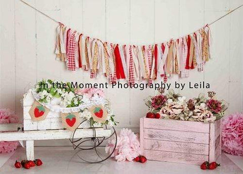 Kate Children Strawberry Decorations Backdrop for Photography Designed By Leila Steffens