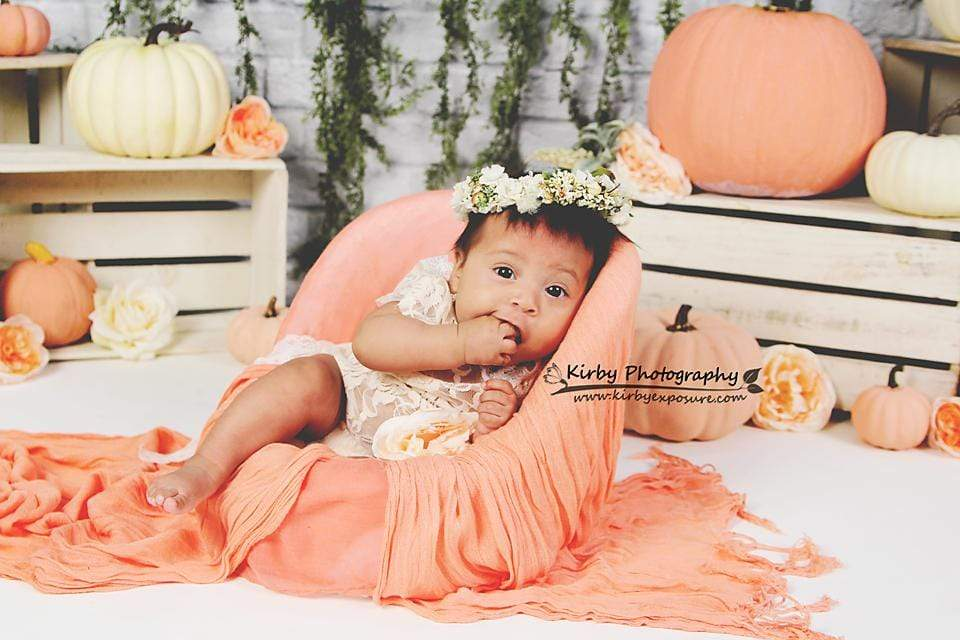 Kate Autumn Sweet as Pumpkin Pie Birthday Backdrops Designed by Arica Kirby