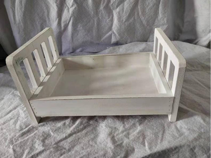 Kate Baby Cot Small Wooden Bed for Newborn Baby Photo Props Photography