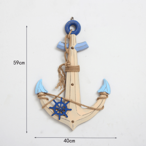 Load image into Gallery viewer, Katebackdrop£ºMediterranean style decor navigation buoy rudder helmsman pendant pendant ornaments mural Photography Props Sea Beach Side