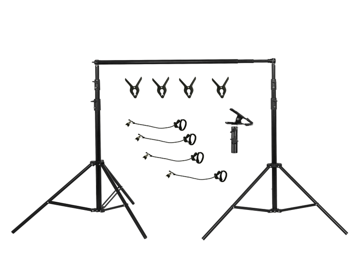 Kate 3x2.8m Frame Kit both for Fabric Backdrop and Double-side Pop-up backdrop( including 4 fish mouth clips + 4 stretch clips + E vigorous clip)