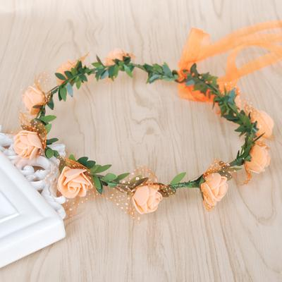Load image into Gallery viewer, Katebackdrop:Monaural wreath headdress bride bridesmaid children wedding photography rosette holiday show seaside photo prop