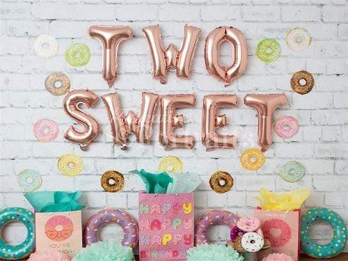 Kate Children Birthday Sweet Donuts Backdrop Designed by Tyna Renner